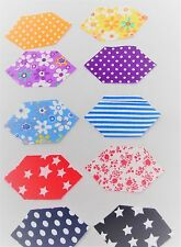 FABRIC HEXAGON STYLE MATERIAL PIECES - QUILTING, PATCHWORK, SEWING - FAT QUARTS