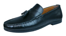Red Tape Woodcroft Mens Leather Slip On Loafers / Shoes - Black