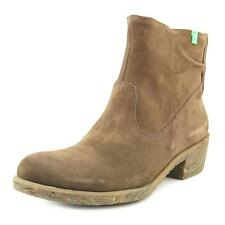 El Naturalista NC50 Women  Round Toe Suede Brown Ankle Boot
