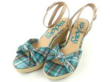 Replay Sandals Shoes Wedge Sandals Namie turquoise Strappy Decorative Knots