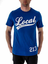 Local Celebrity T-Shirt Local blau Short Sleeved Crew Neck Logo