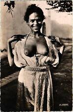 Morocco North Africa Nude Black Woman Old Photo Postcard