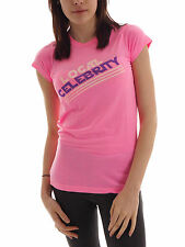 Local Celebrity T - shirt Tee Logo Shirt rosa Letters Crew neck Basic