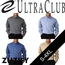 UltraClub Mens Wrinkle-Free End-On-End Dress Shirt. 8340