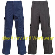 8 Multi Pocket Cargo Work Trouser Workwear Mens Combat  Knee Pad Pockets Pants