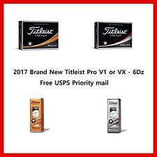 New 2017 Titleist Pro V1  or Pro V1X  6dozen Free USPS Priority Mail