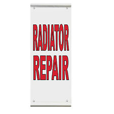 Now Leasing Red Double Sided Vertical Pole Banner Sign