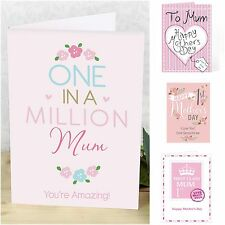 Personalised Mother's Day Cards For Mum Mothers Mam Mom Any Name & Message Card