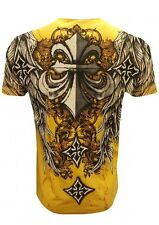 CLASSIC FLEUR DE LIS T SHIRT FALLEN ANGEL MEN'S MMA DESIGNER WEAR ALL SIZES