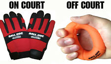 Ball Hog Gloves + Grip Strengthener BASKETBALL HANDLING DRIBBLING Training Aid