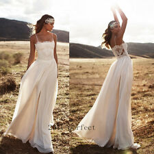 2017 Summer Beach Wedding Dresses Spaghetti Straps A Line Bridal Gowns Custom