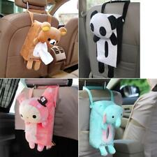 Auto Car Seat Back Tissue Box Holder Paper Napkin Cute Aminal Decor Cover