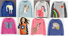Mini Boden girls' applique long sleeve top new age 1 - 12 years shirt cotton