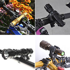 Road Bike Bicycle Cycling Flashlight Lamp Mount Holder Clip Light Torch Clamp