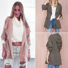 Fashion Womens Long Slim Coat Jacket Trench Windbreaker Parka Outwear Cardigan