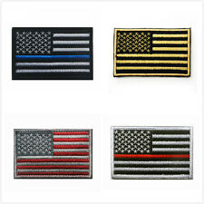 America Flag Patch Embroidered Patches On Applique Country Flag Emblem Badg