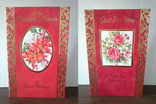 Christmas Cards Flower 00 - Large 27.5cm x 18cm approx - Buy 1 get 1 Half price
