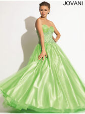 New Jovani 153069 Lime Green Tulle Princess Ball Gown Pageant Prom Evening Dress