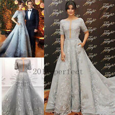 2017 New Evening Dresses Elegant Formal Prom Dress Party Lace Gowns Custom Size