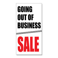 Going Out Of Business Sale Red Black Business  DECAL STICKER Retail Store Sign