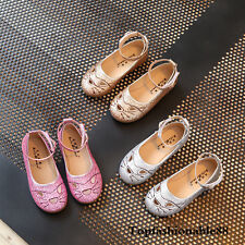 2017 Fashion Kids Girl Princess Shoes Flats Hollow Toddler Baby Girl Sandals