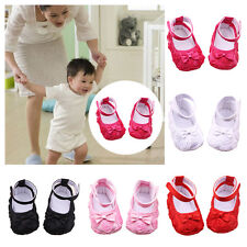 Kids Rose Flower Baby Shoes Soft Sole Toddler Anti-Slip Sandal Shoes 3-12M