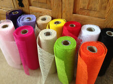 ELEGANZA Jute Mesh Webbing Ribbon Fabric - 12 shades & 3 lengths - 28cm WIDE!