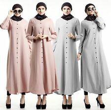 NEW Kaftan Abaya Muslim Women Long Shirt Dress Islamic Vintage Maxi Blouse Dress