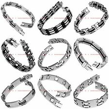 BBRM0097 MANY STYLES MEN'S STAINLESS STEEL CHAIN LINK CUFF BANGLE BRACELET