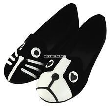 2016 Cute Cat Dog Face Slouch Comfort Casual Low Heel Women's Loafers shoes N98B