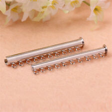 10pc Plated Copper Magnetic Clasps Slide Lock Necklace Jewelry Finding 10 Strand