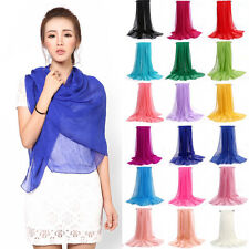 New Women's Silk Solid Shawl Wrap Scarves Long Wraps Shawl Beach Silk Scarf  lot