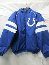 Indianapolis Colts Mens Large XL & 2XL Full Zip Winter Jacket with Hood Col