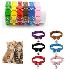 Adjustable Safety Collar Neck Buckle Strap Harness w/ Bell for Puppy Kitten Cat