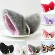 2016 HOT Cosplay Party Cat Fox Long Fur Ears Anime Neko Hair Clip Orecchiette ED