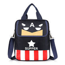 Preppy Style Boy Girl Messenger Shoulder Bag Convertible School Bookbag Backpack