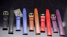 New Gucci 14 MM Lizard Grain - Genuine Leather Watch Band - SHORT - Your Choice