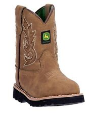 New John Deere JD1031 Baby's Tan Round Toe Pull-On Wellington Boots