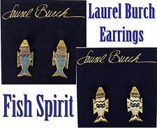 LAUREL BURCH Earrings Fish Spirit Vintage Cloisonne Post 2 Piece-swing NEW MOC