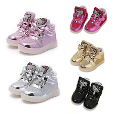 LED Shoes Kids Girls Light Up Baby Lovely Casual Luminous Sneakers Pretty Gift