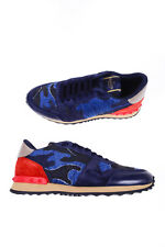 Valentino Shoes Sneaker % Leather MADE IN ITALY Man Blues LY2S0723DNC-765
