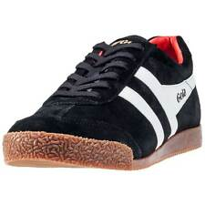 Gola Harrier Mens Trainers Black White Red New Shoes