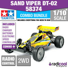 COMBO DEAL! 58374 TAMIYA SAND VIPER DT-02 2WD 1/10th R/C KIT RADIO CONTROL BUGGY