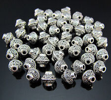 FREE Lots Tibetan silver Cone Pendant Biconical Jewelry Design spacer beads 6MM