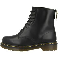 DR DOC MARTENS 1460 BOOTS 8-LOCH LEATHER BOOTS BLACK SMOOTH BLACK 10072004