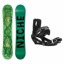 Niche Theme Stealth 3 Snowboard and Binding Package