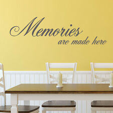 Memories are Made Here - Wall Quote Sticker ART