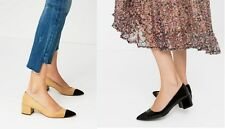 Woman ZARA MID-HEEL SHOES WITH CONTRASTING Pointed TOE CAP lady new