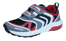 Geox Sneakers J Asteroid B Boys Shoes - Grey Red - C0051