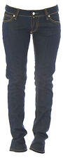 BLUE BLOOD Women's Navy Blue Simone Dry Denim Straight Leg Jeans NEW